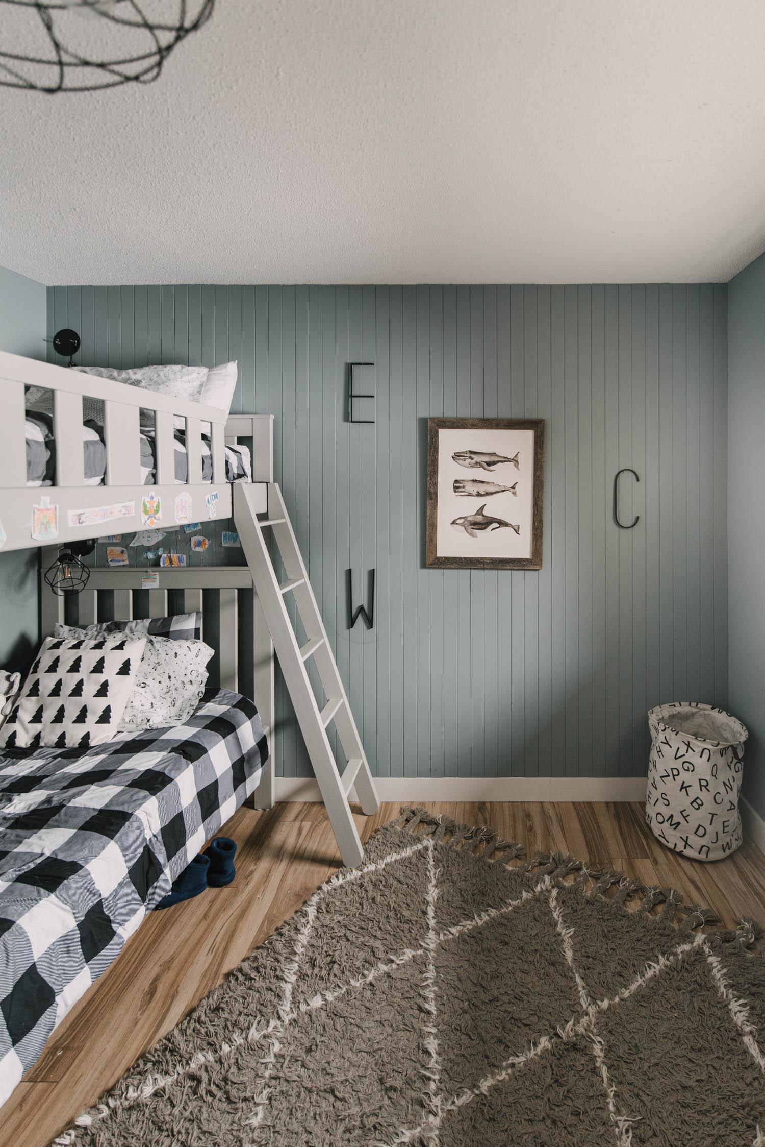 Modern nordic style boys bedroom