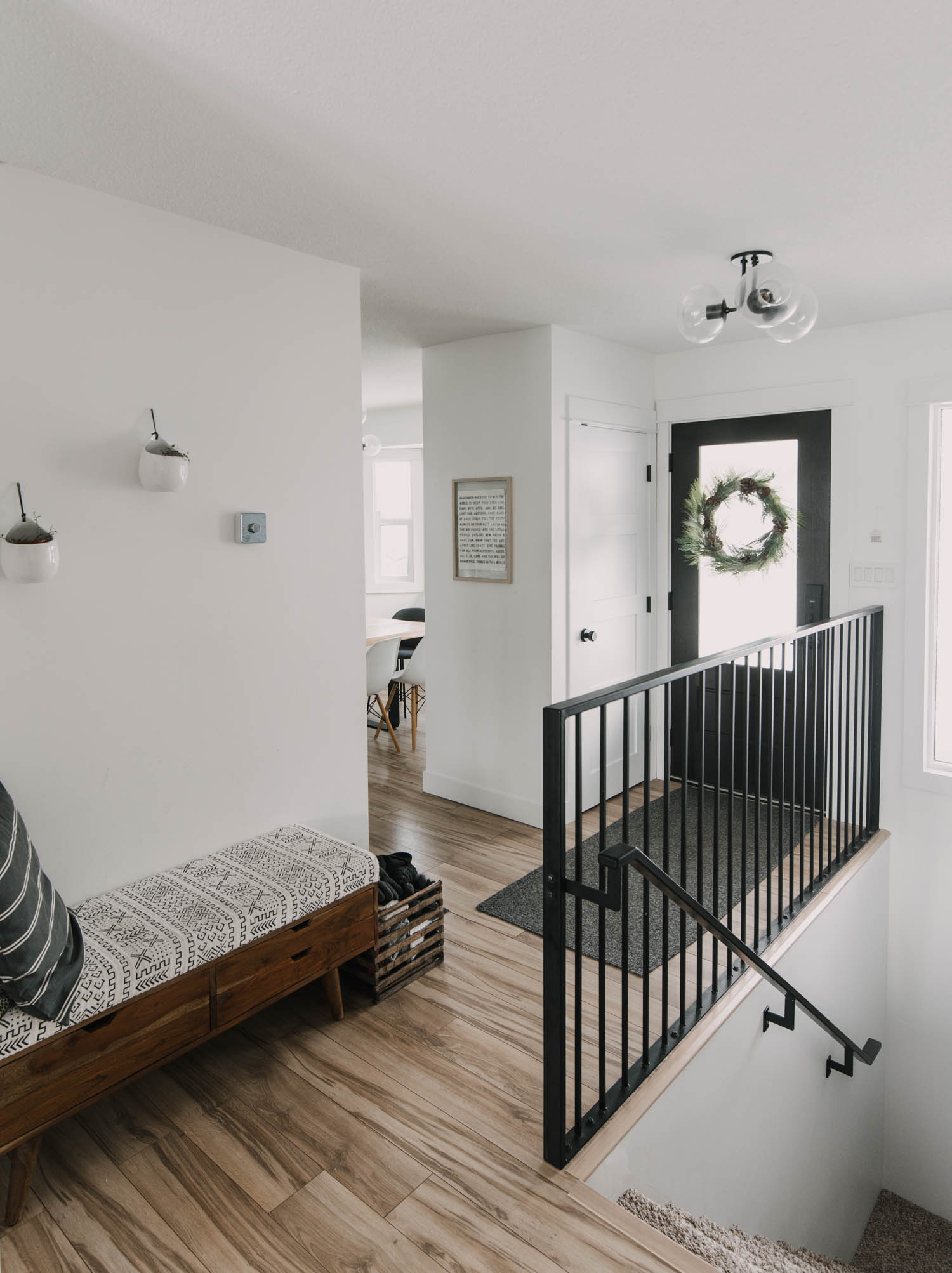 Modern Entryway in a small space