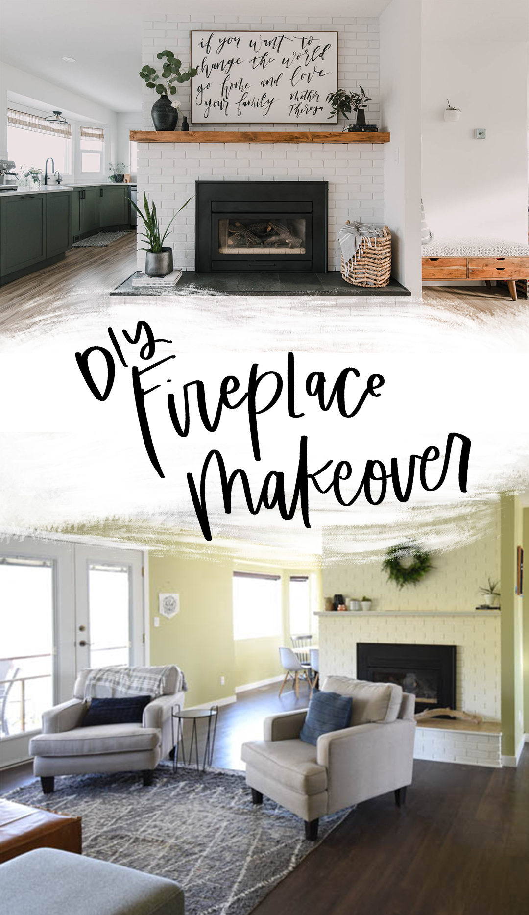 fireplace before and after photos