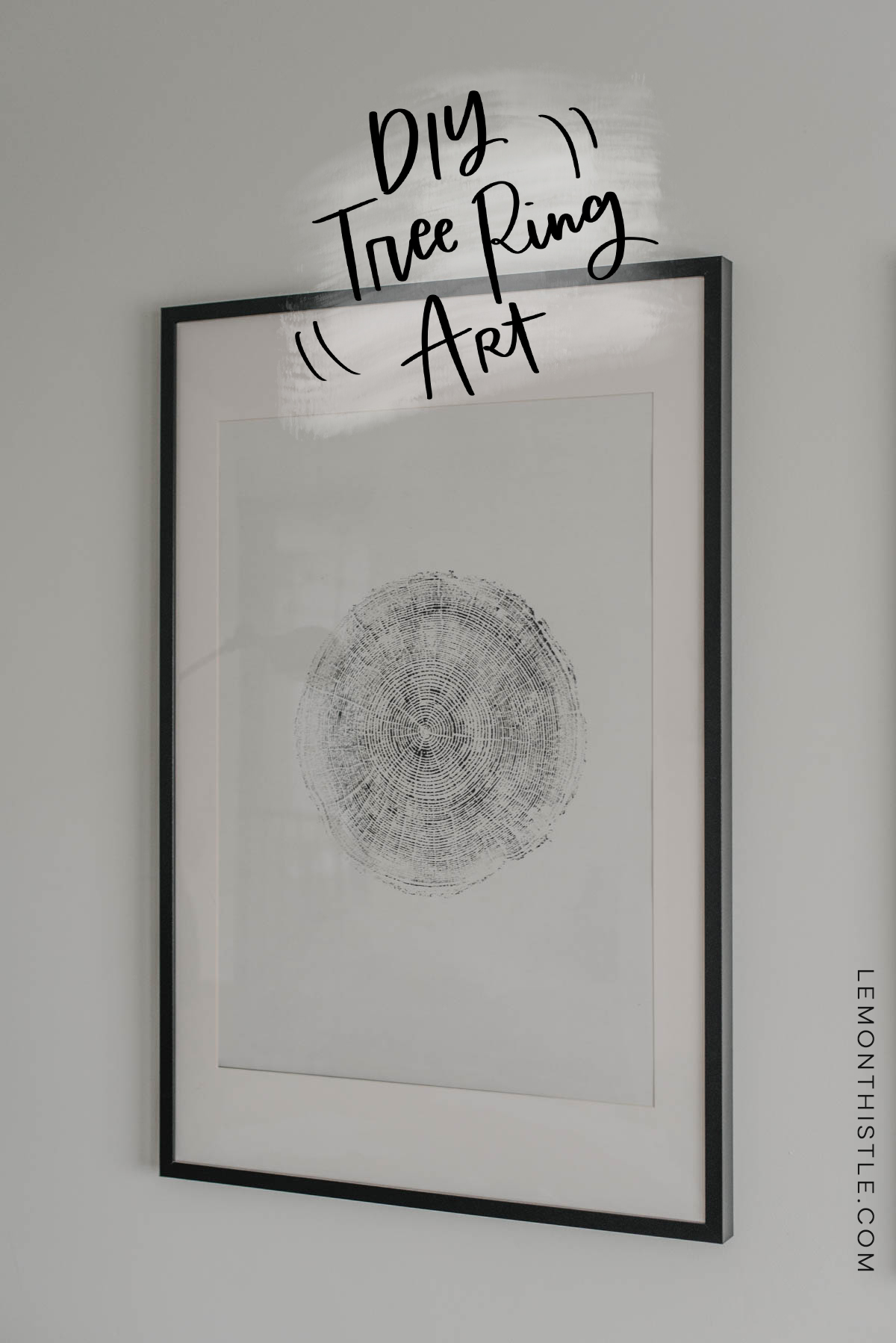 DIY Tree Ring Art Tutorial