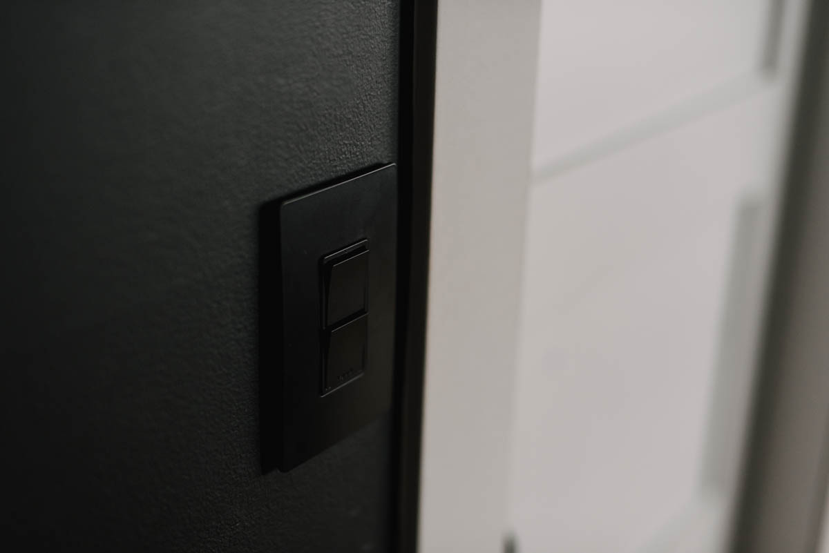 black light switches on black walls- how to do it!