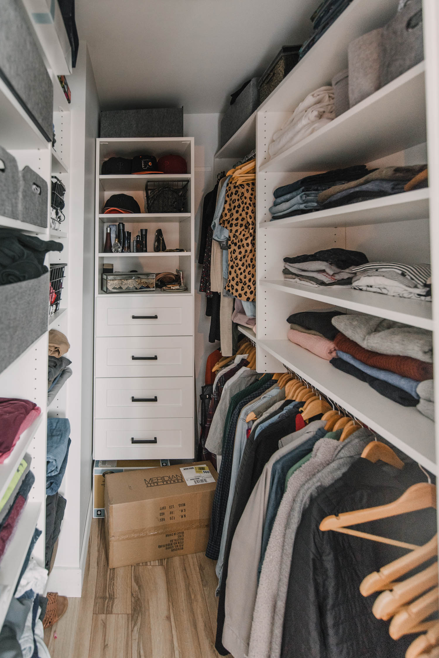 Update- one year later on this small walk in closet