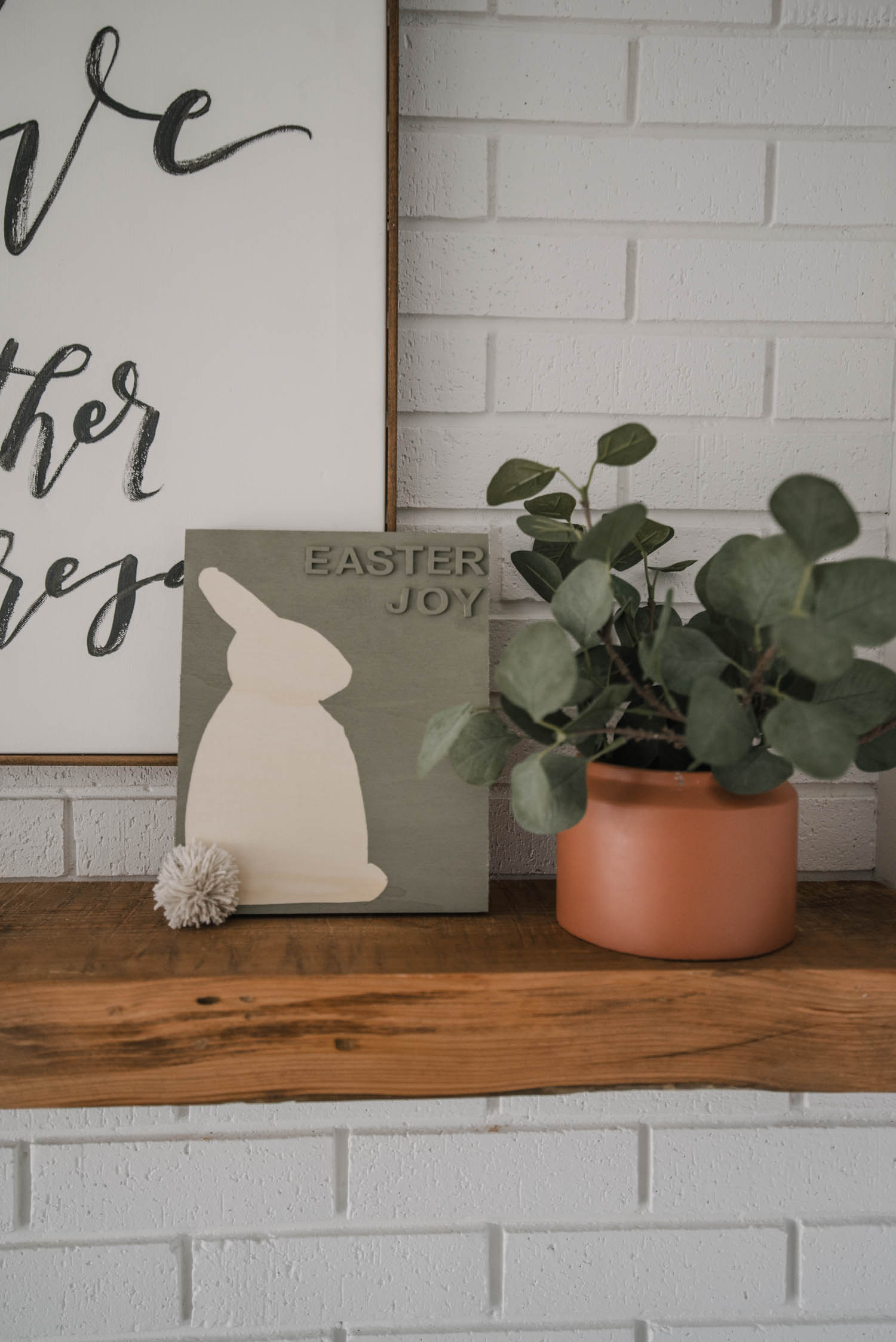 Modern Dollar Store DIY Easter Sign