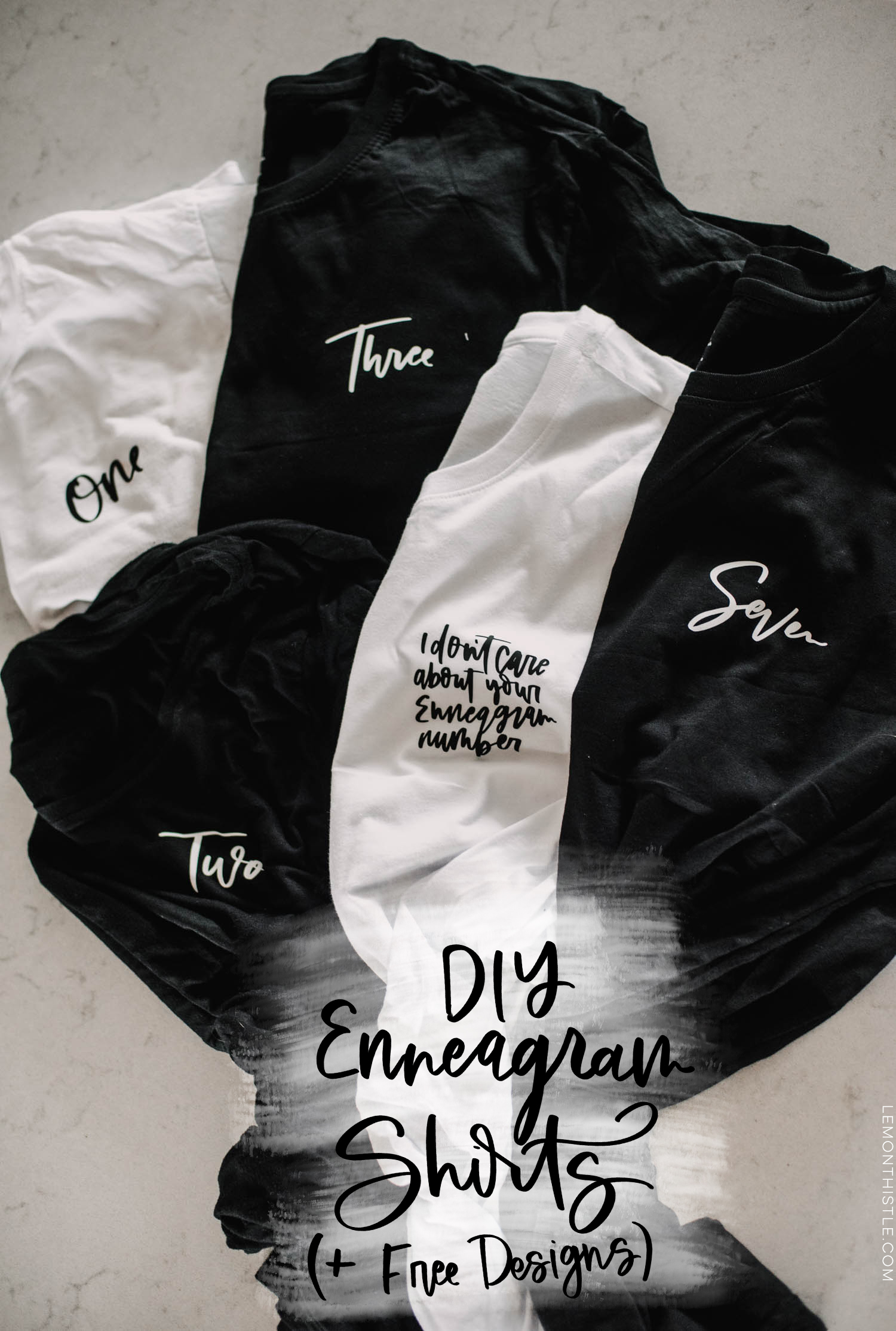 DIY Enneagram Shirts + Free Designs