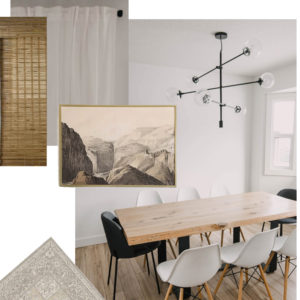 Modern Neutrals Dining Room Design Plans