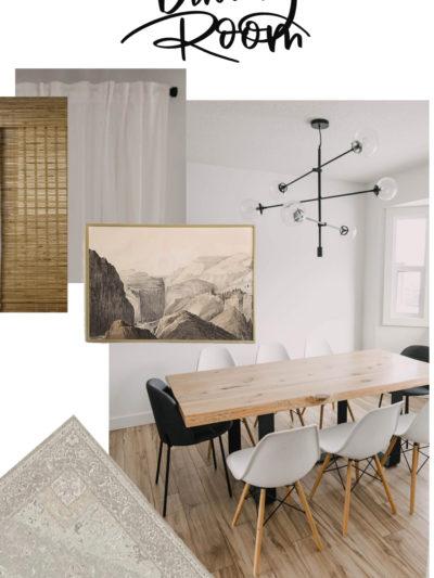 Modern Neutrals Dining Room Design Plans
