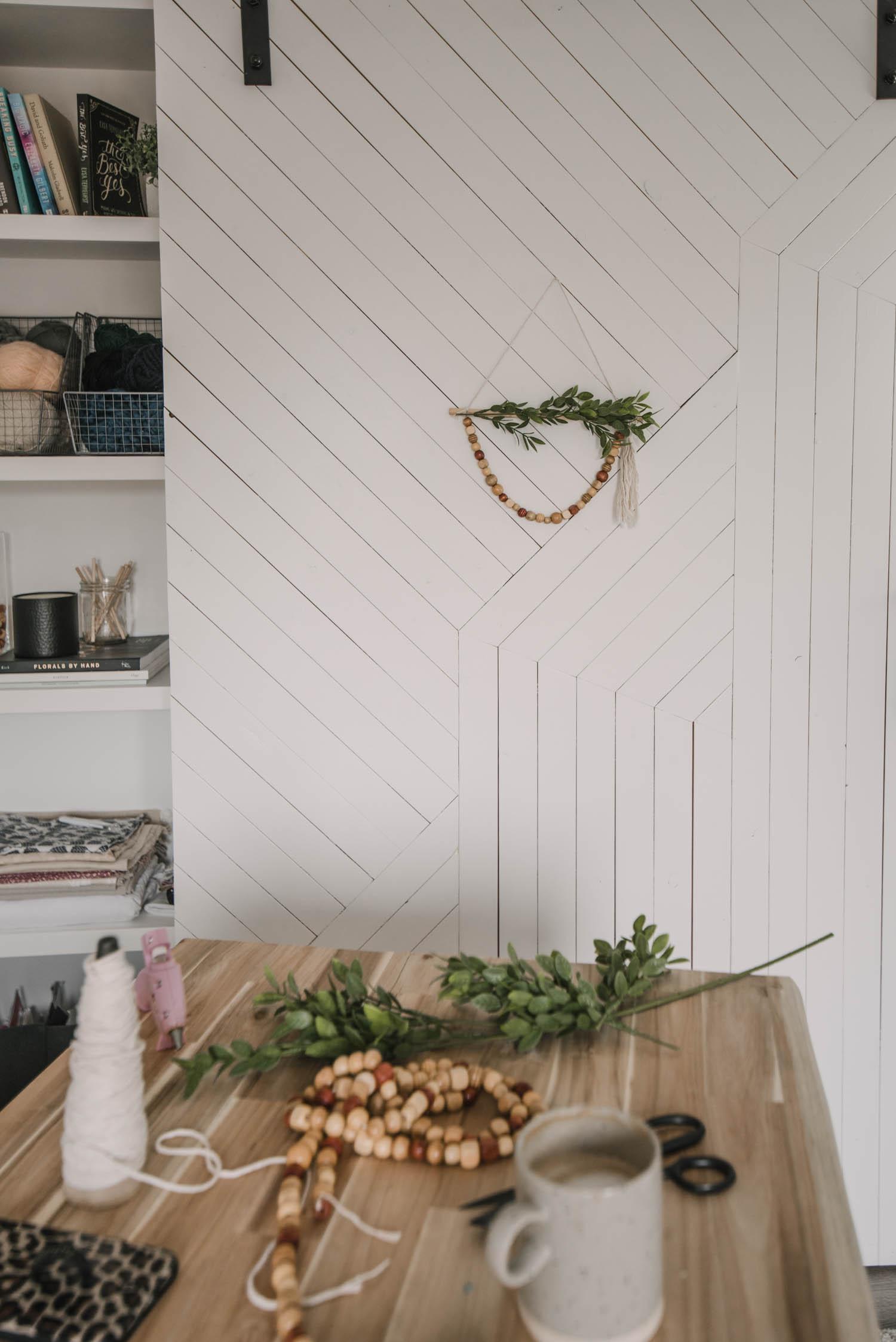 DIY Dollar Store Wreath for Spring- Boho Style