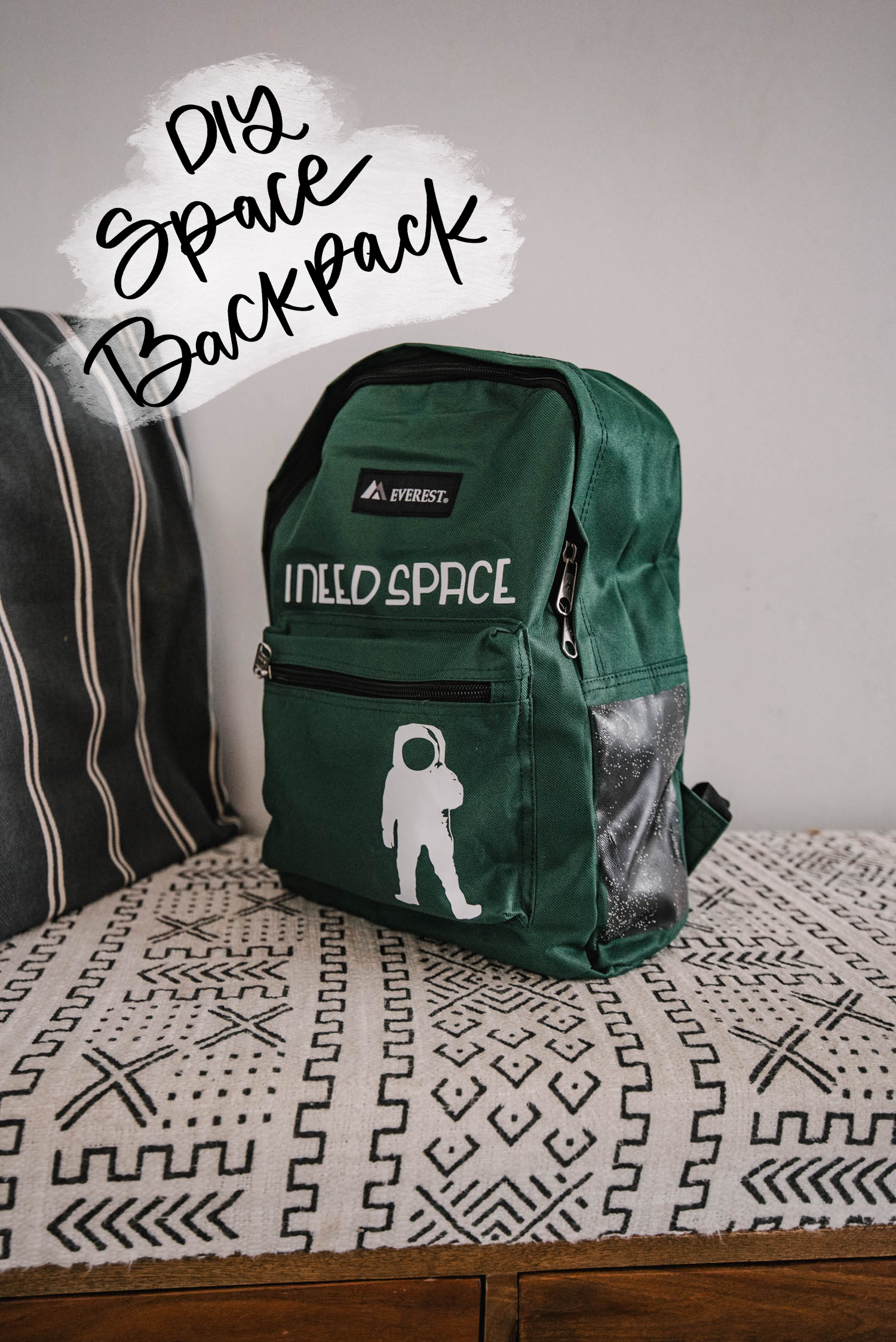 DIY Space themed backpack project