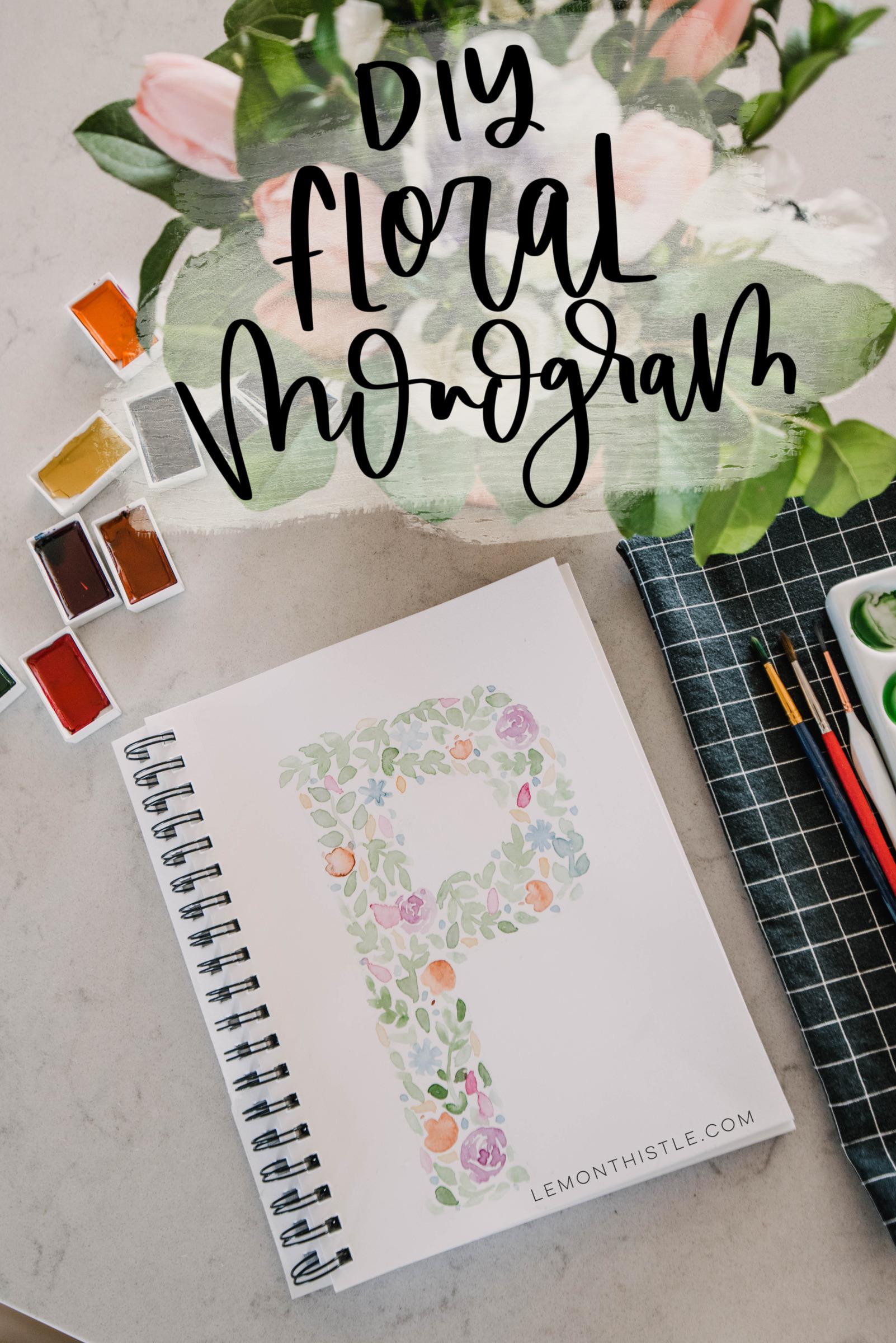 Floral Watercolor Monogram Tutorial