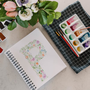 Floral Watercolor Monogram Tutorial