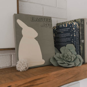 Modern spring mantel decor