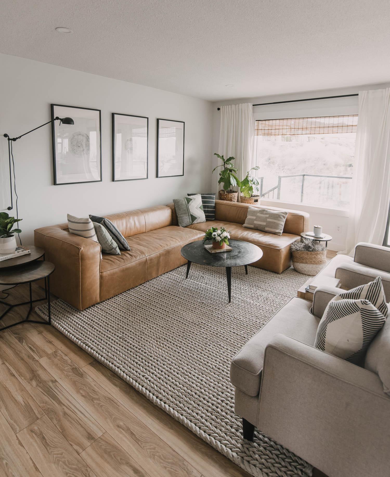 Modern decor for spring home tour