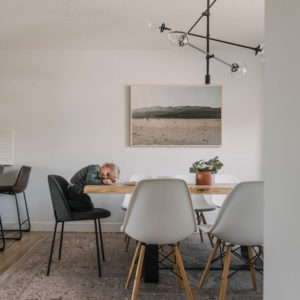 Dining Room Reveal with child