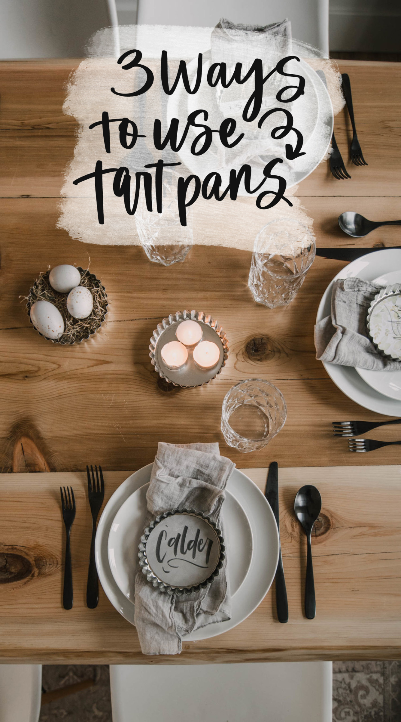 How to use tart pans for decor