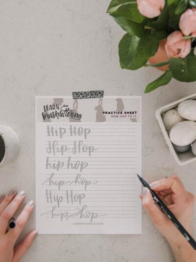 Hip Hop Free Printable Hand Lettering Practice Sheet