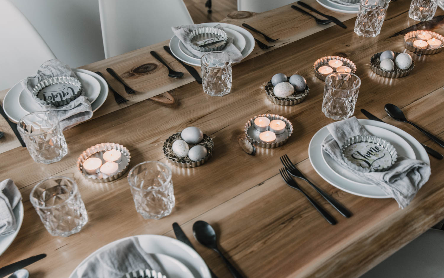 Tart Pans as Candle Holders