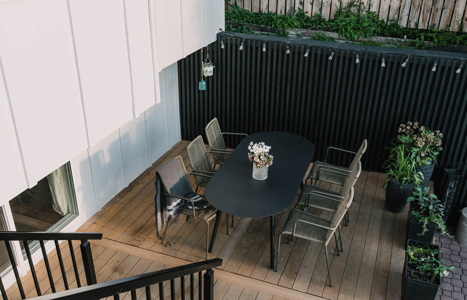 Modern Patio Makeover from above