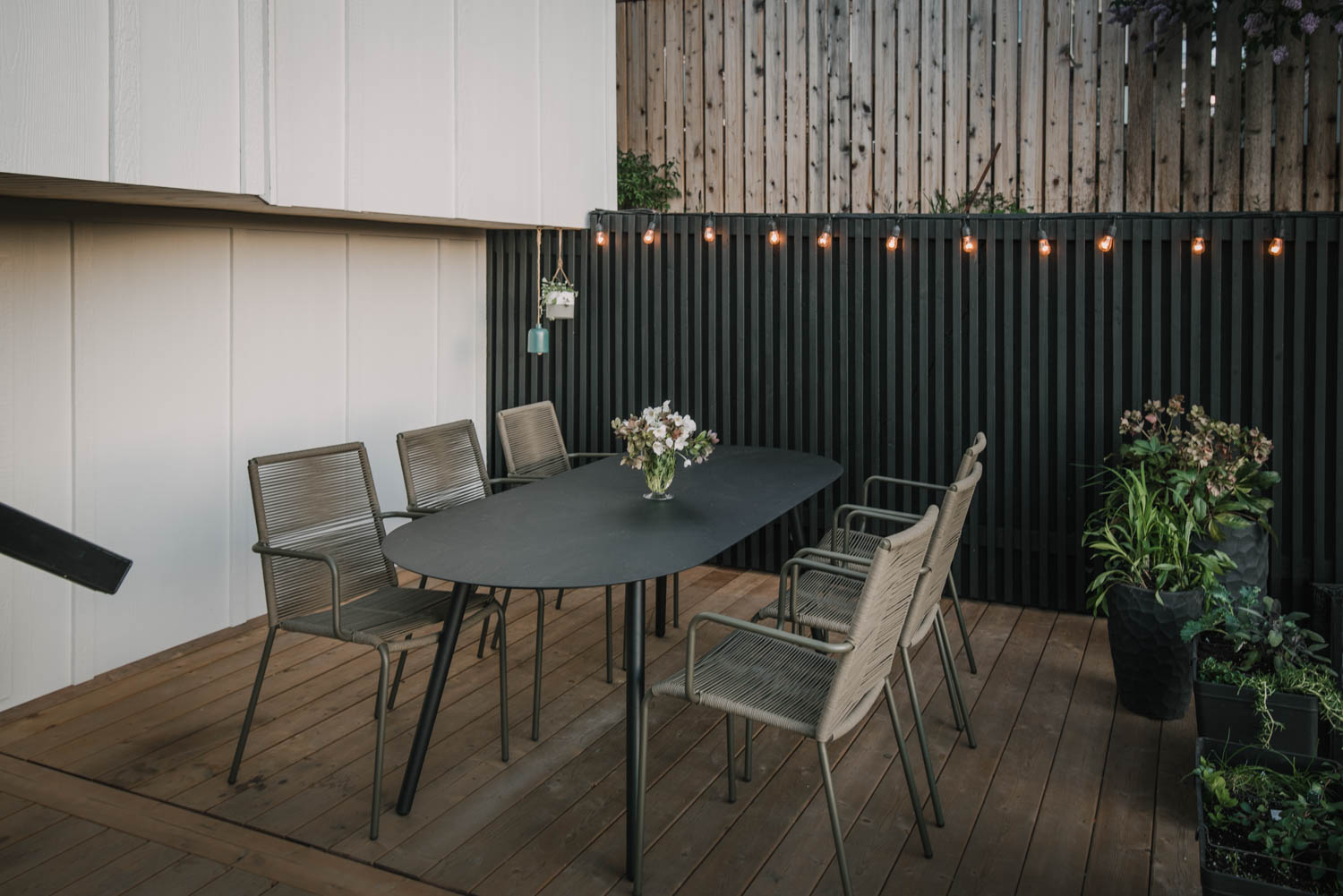 Outdoor Dining Space Reveal Lemon Thistle
