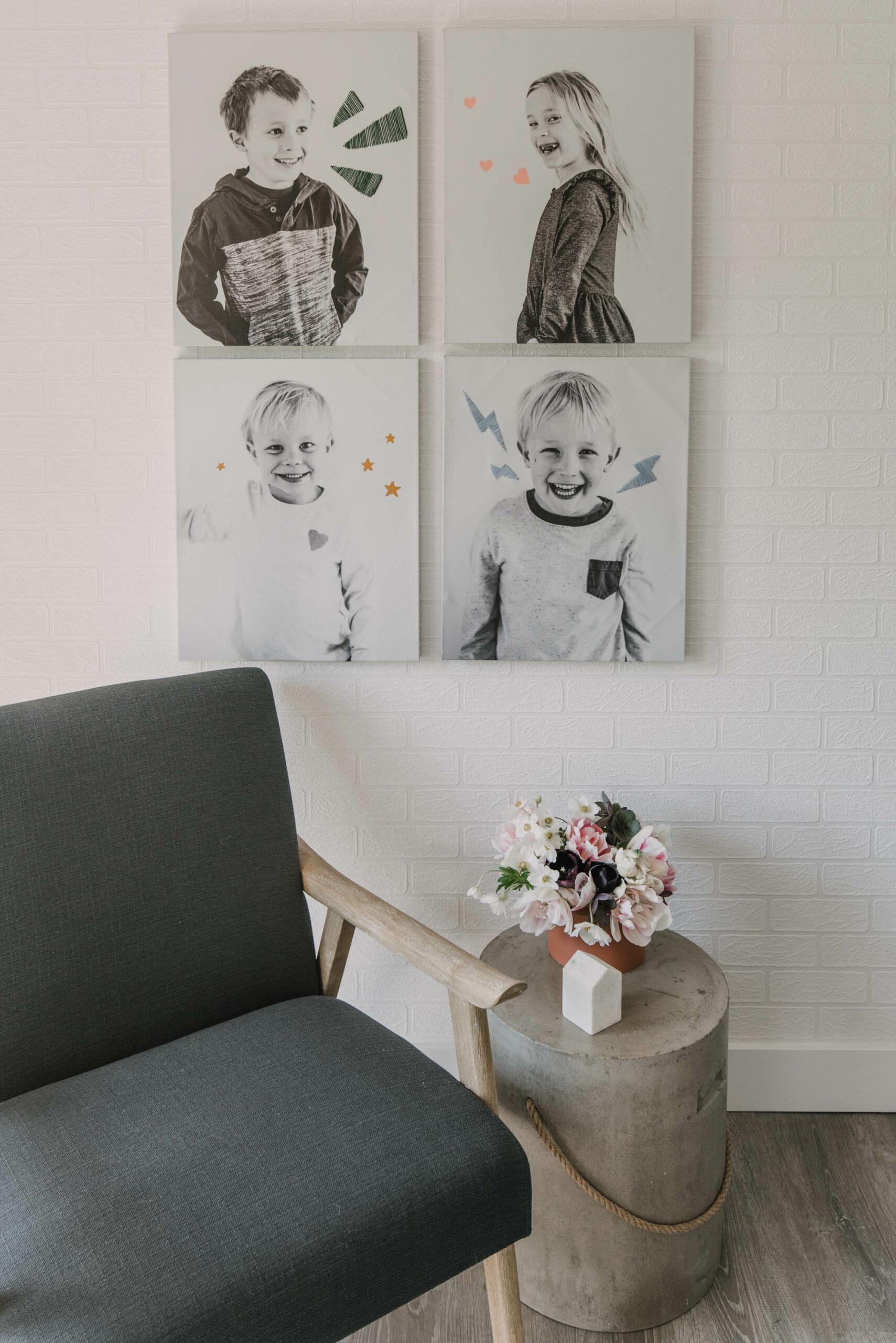 Adding fun color to black and white photos