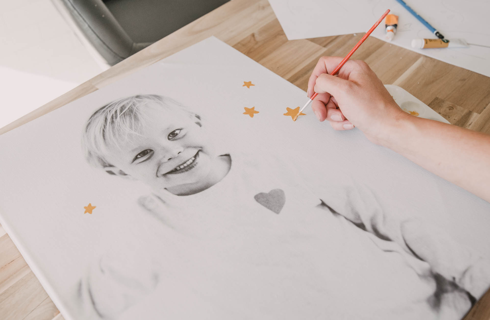 Paint on Kids Photos!
