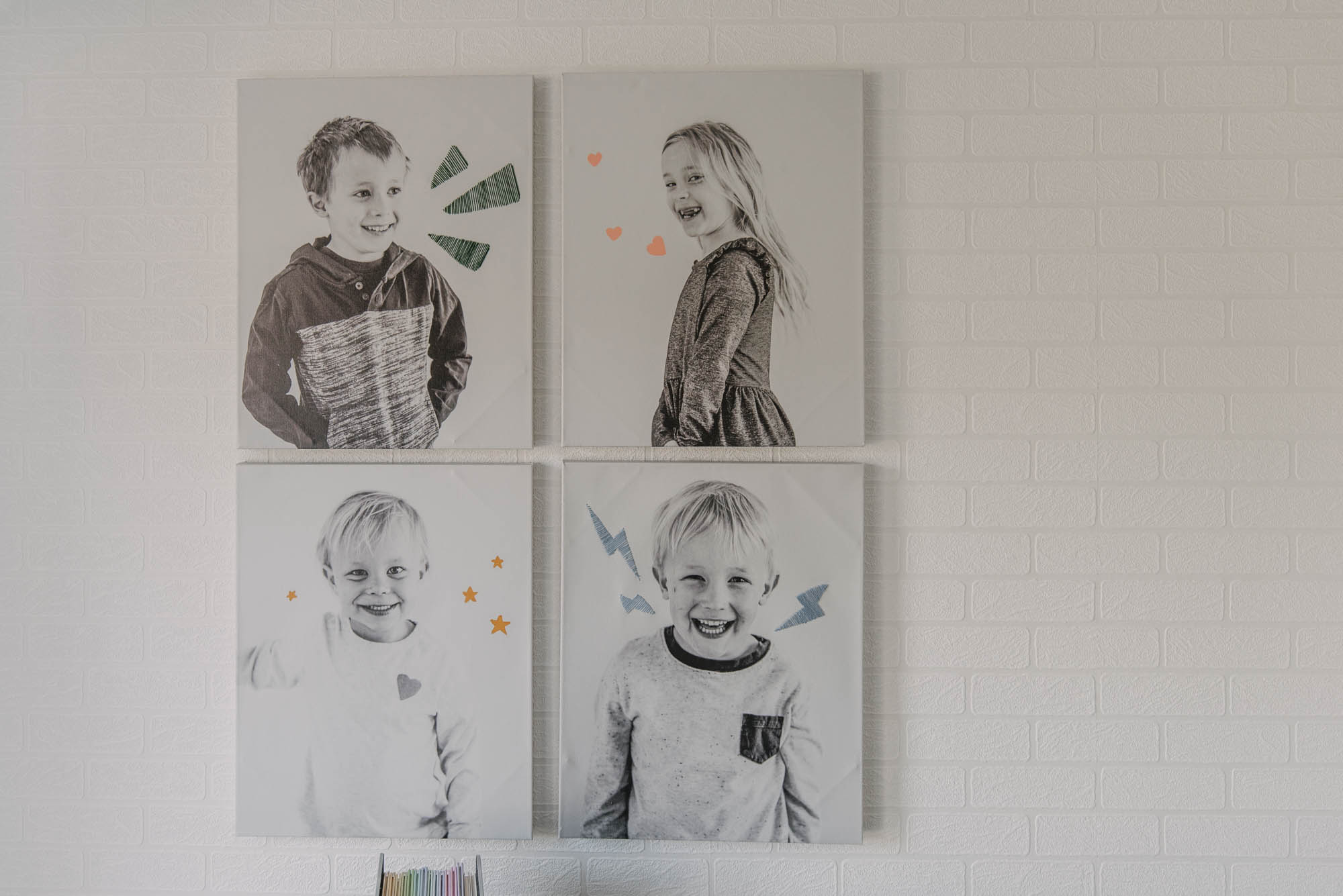 DIY Canvas art for a playroom