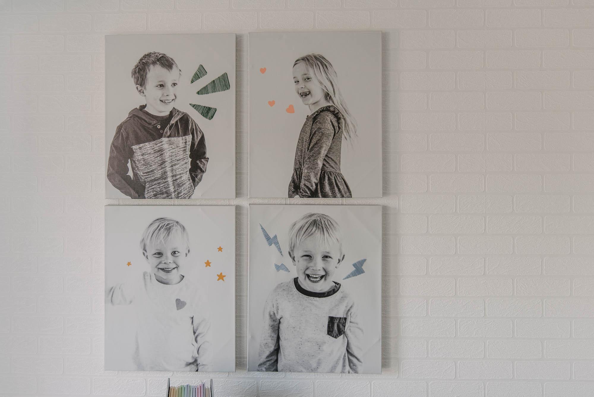 DIY Canvas art for a playroom