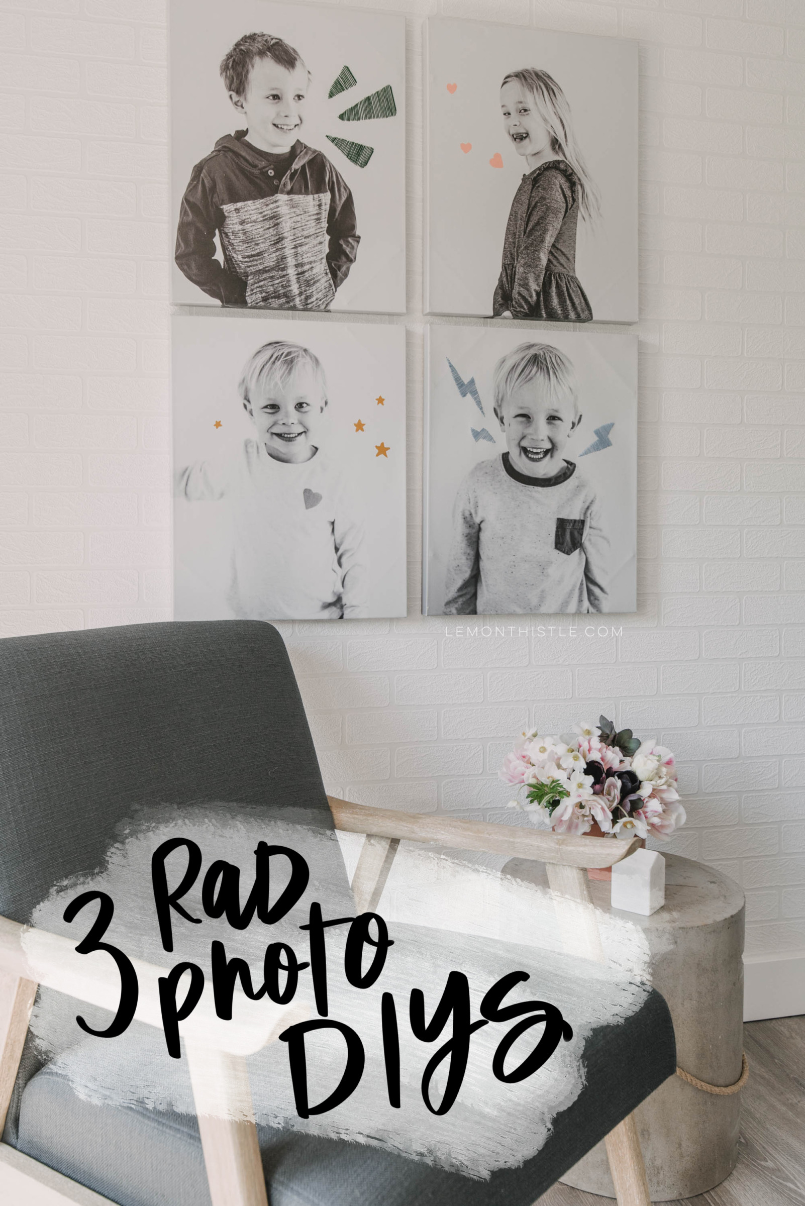 fun ideas to get photos on your walls!