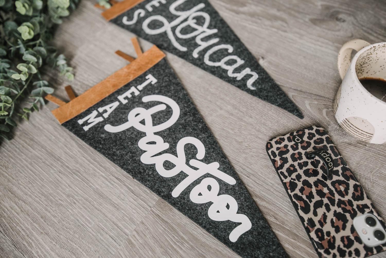 DIY Leather and Felt Pennants
