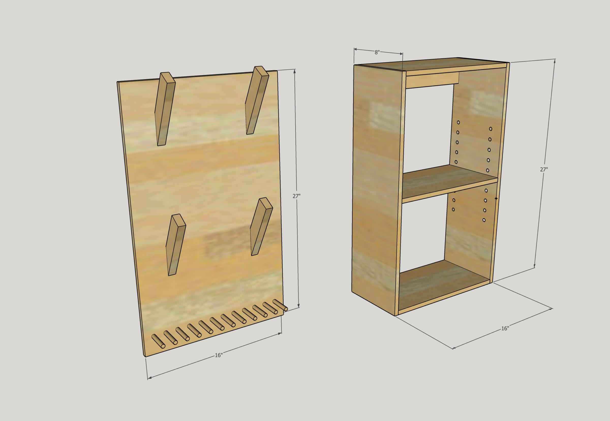 Modern Shelf for Small Exercise Equipment