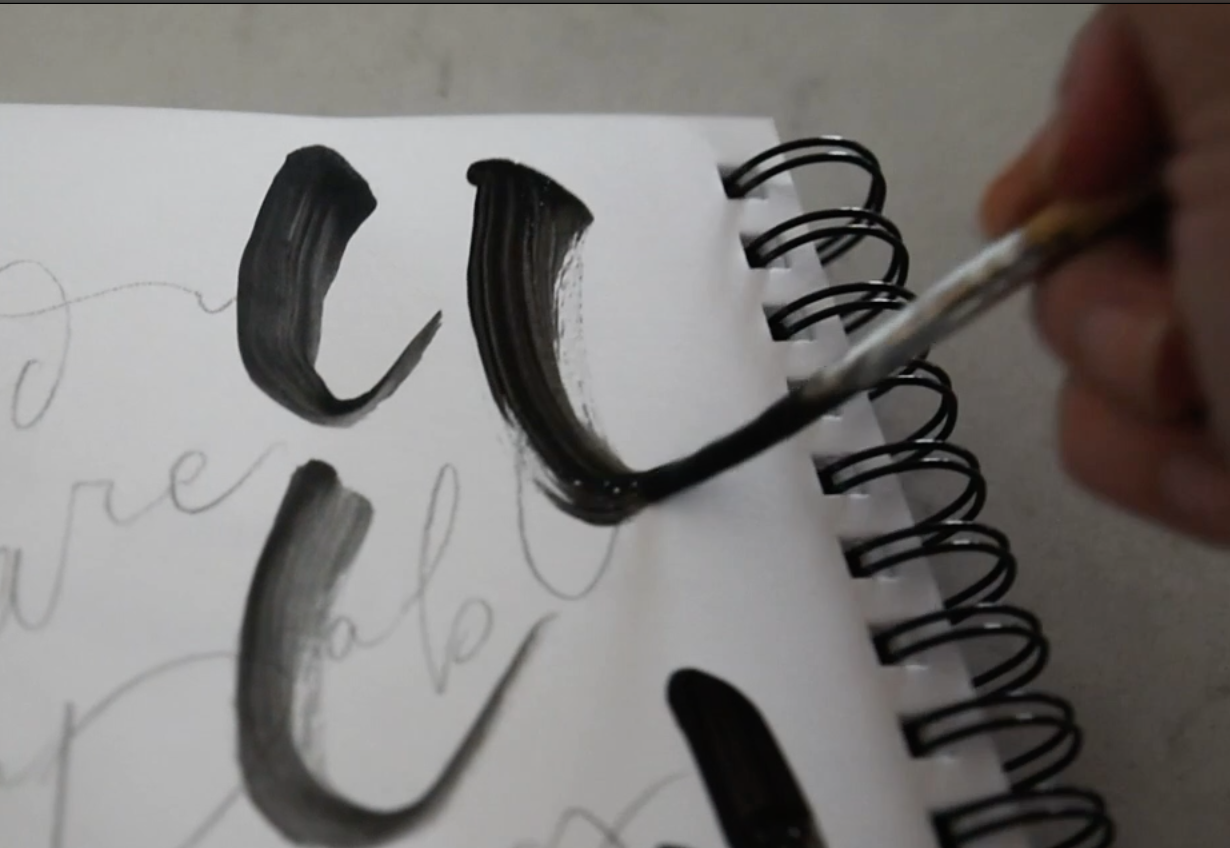 how to brush letter on canvas with acrylic paint