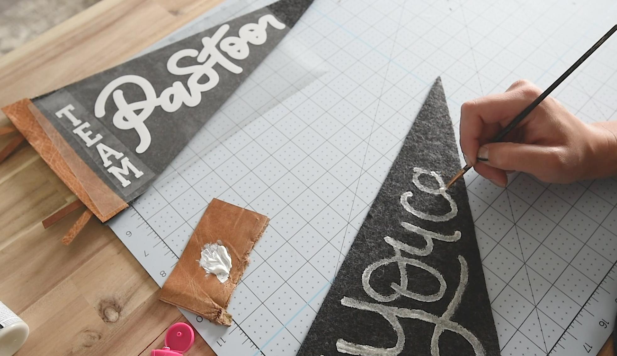 DIY Hand Painted Felt Banner