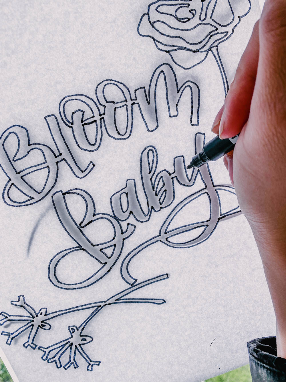 Easily make hand lettering coloring sheets two different ways