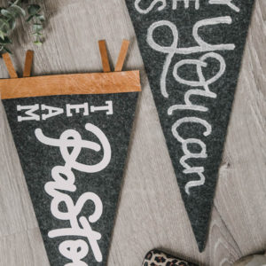 DIY Leather and Felt Pennants
