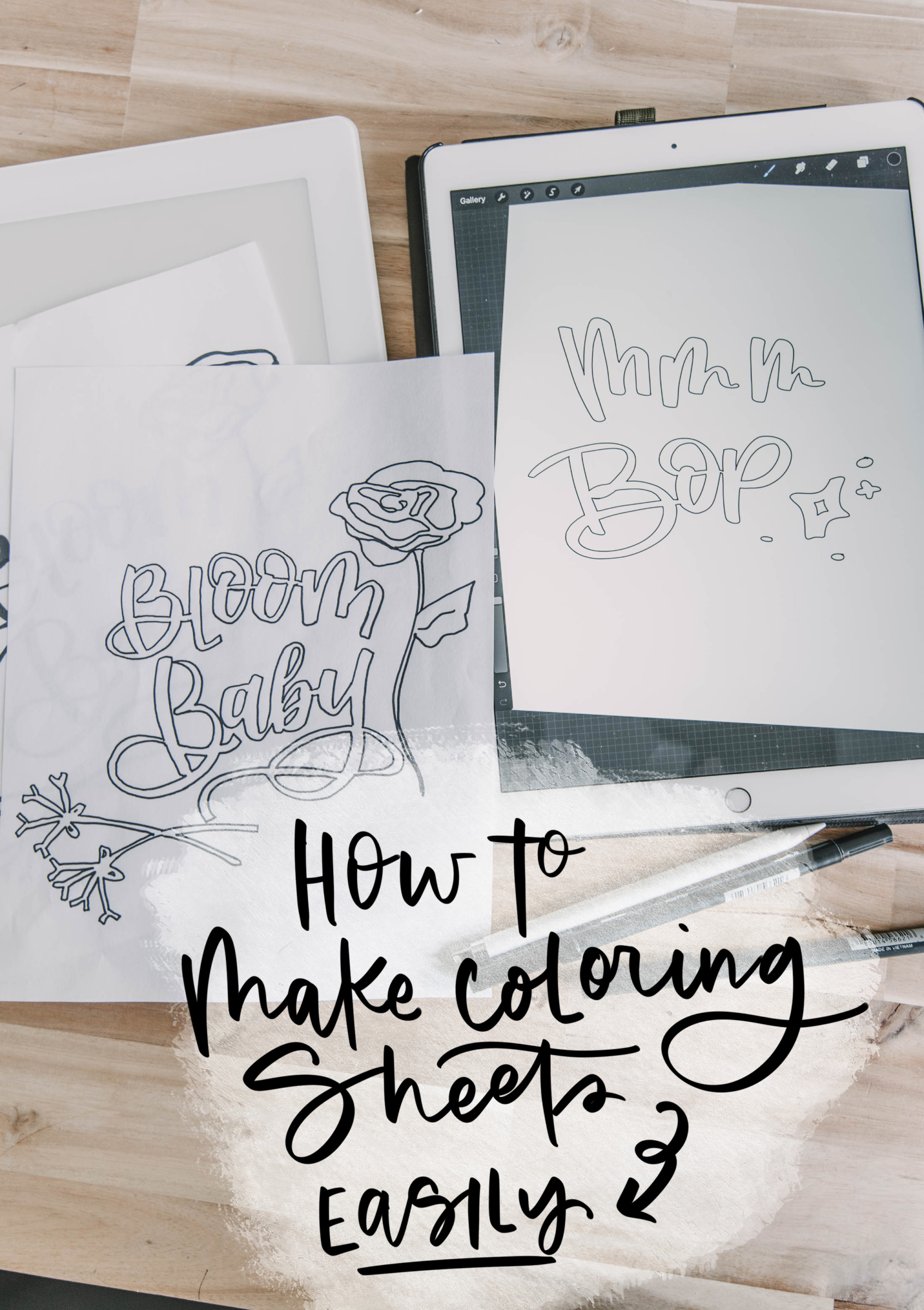How to make coloring sheets 2 ways