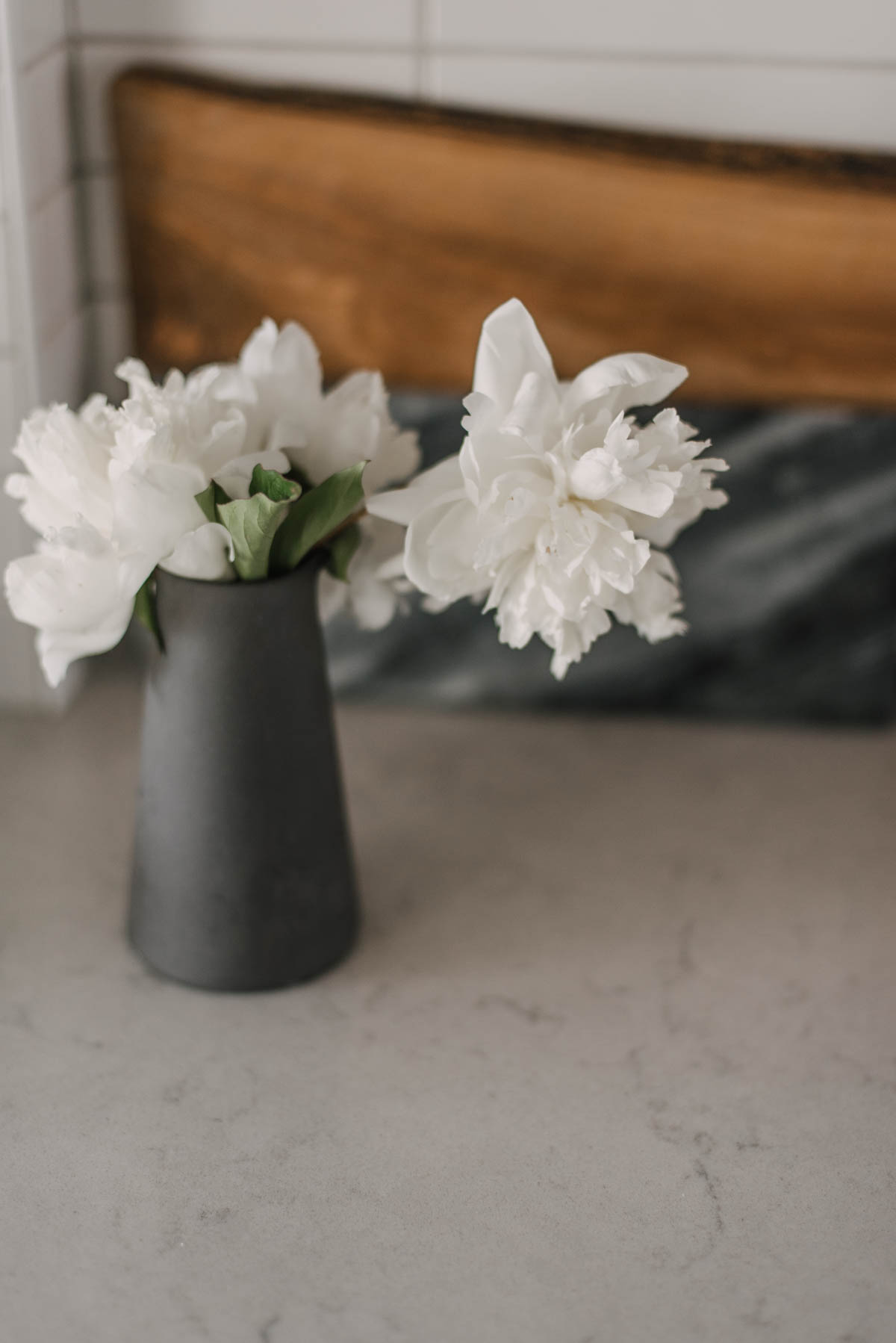 White Peonies for Modern Decor