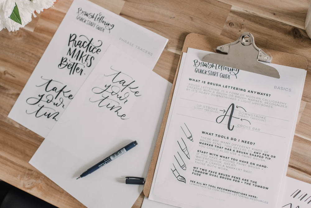 Brush Lettering Quickstart Guide