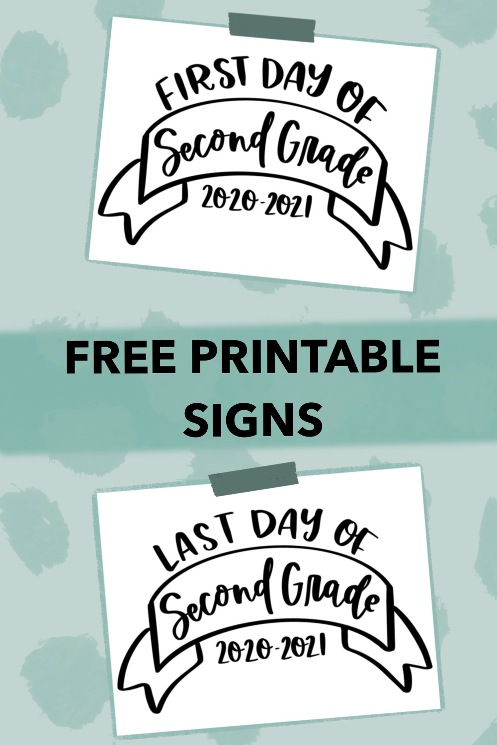 Free Printable Signs for school photos
