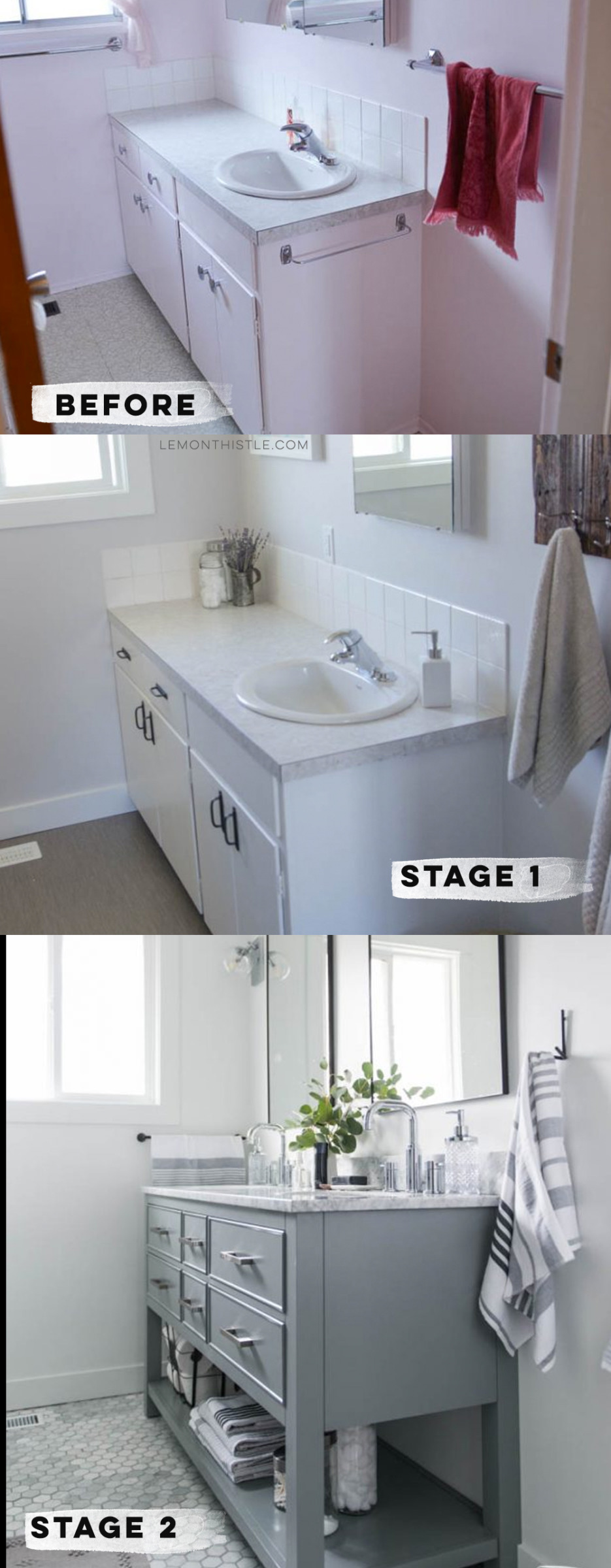 renovating a bathroom in stages