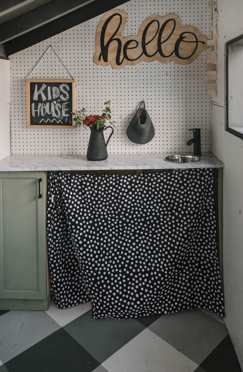 DIY Playhouse Kitchen