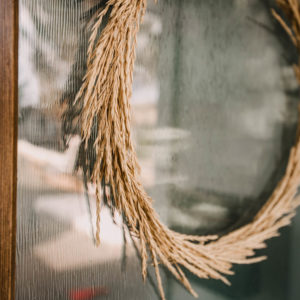 Fall Wreath with dried grasses