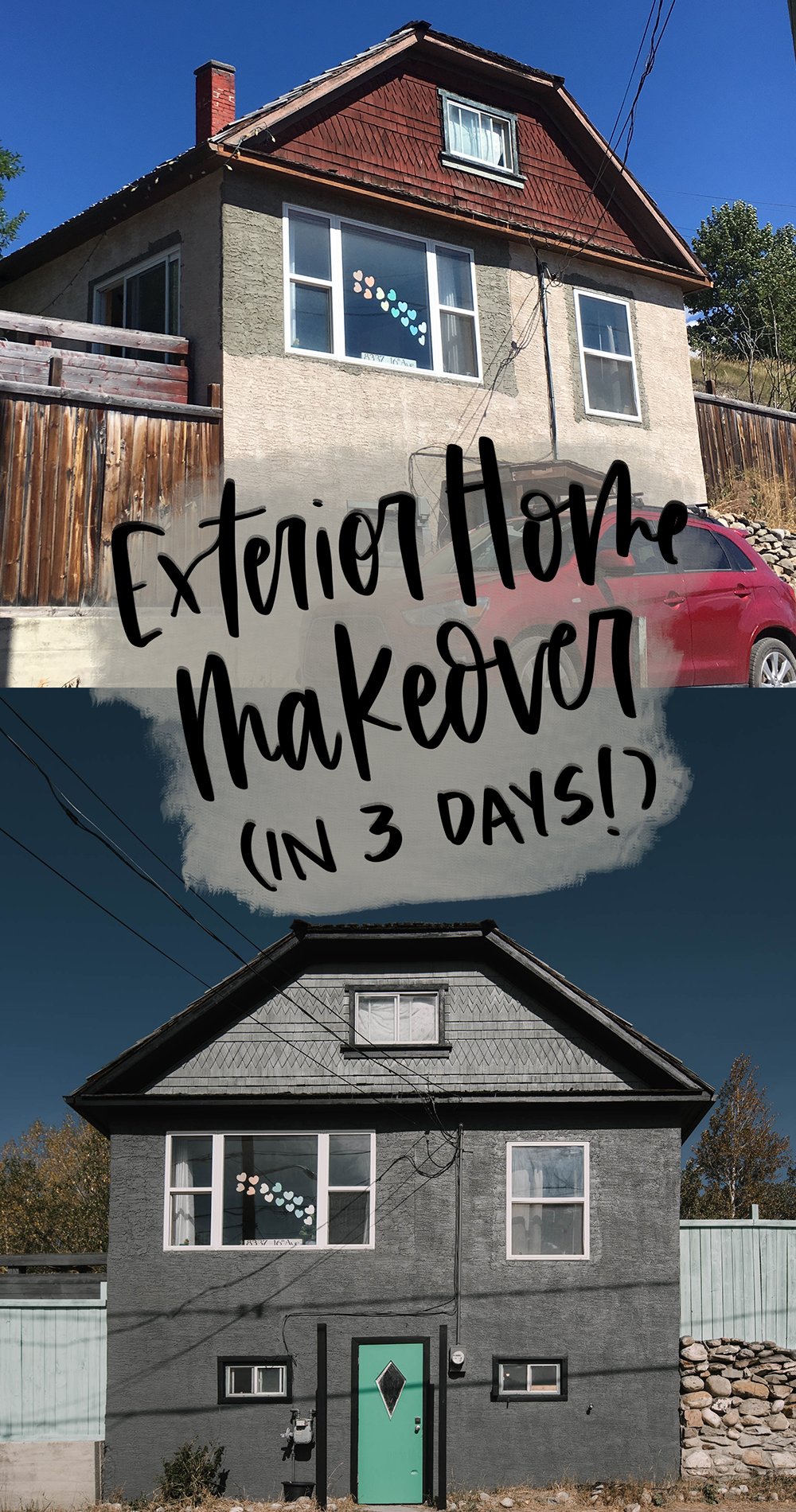 Exterior Home Makeover with Paint