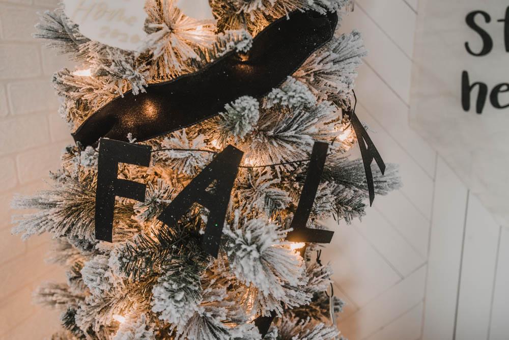 Felt garland for christmas tree decor