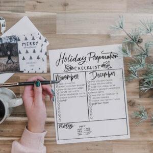 Prepare for the holidays- free checklist
