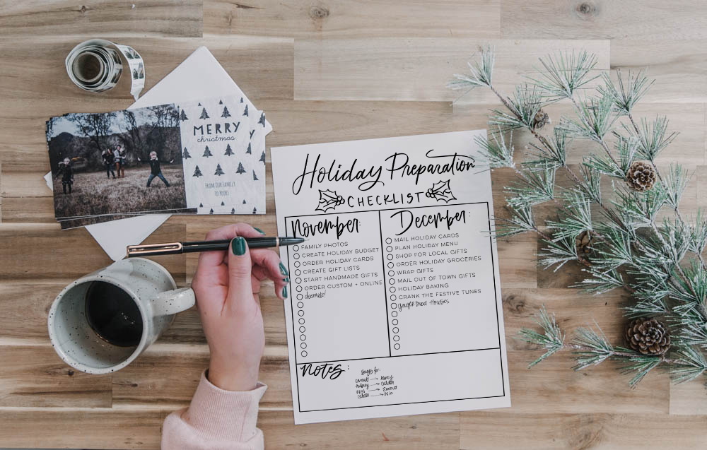 Prepare for the holidays- free checklist