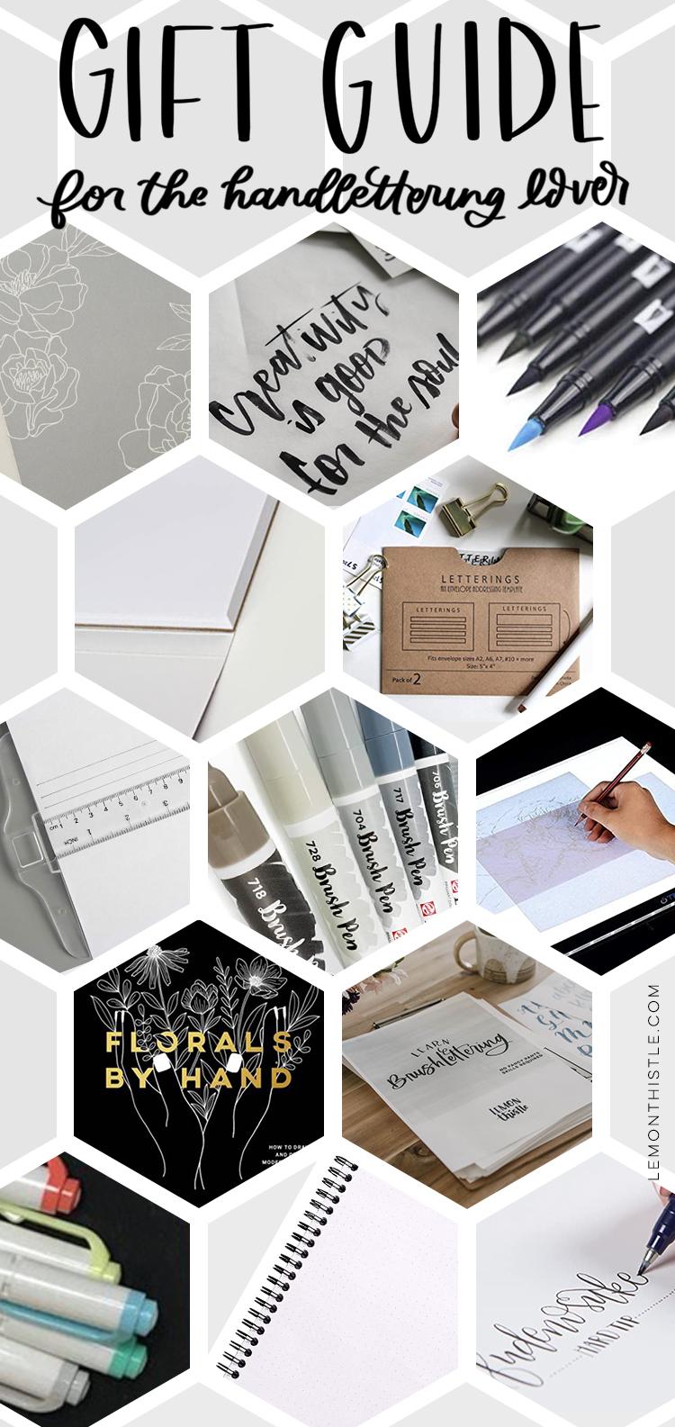 Brush Lettering Gift Guide
