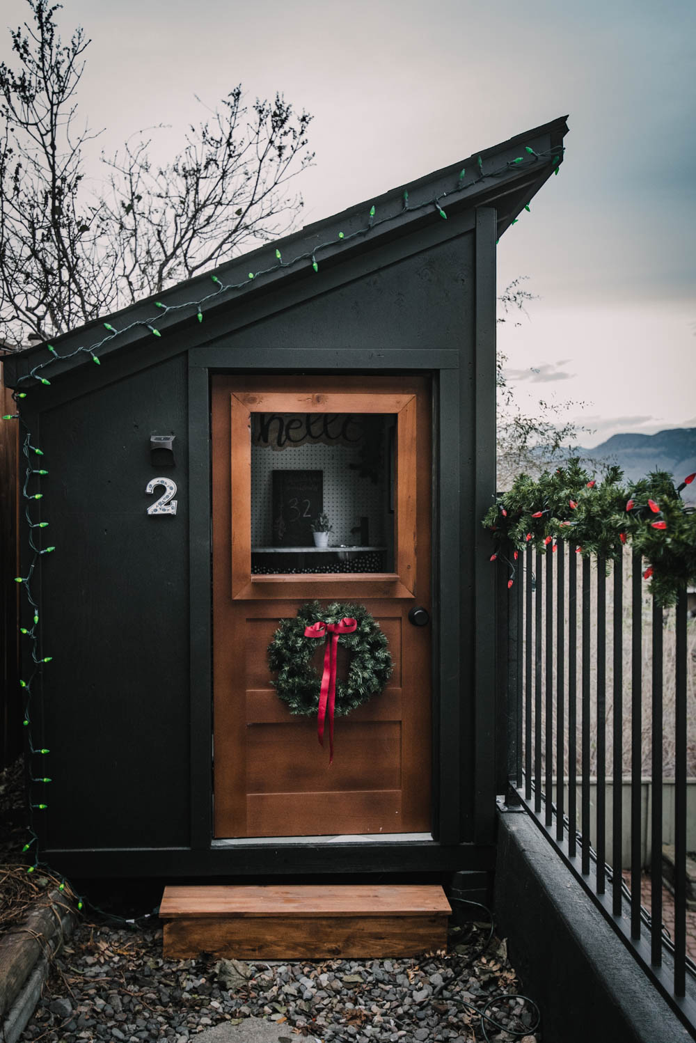 Modern Holiday Decor for a kids playhouse