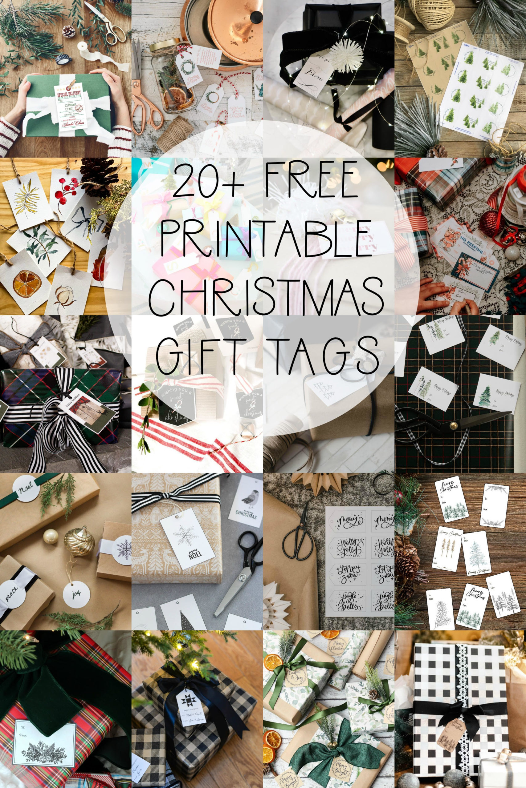 More than 20 Free Printable tags for the holidays!