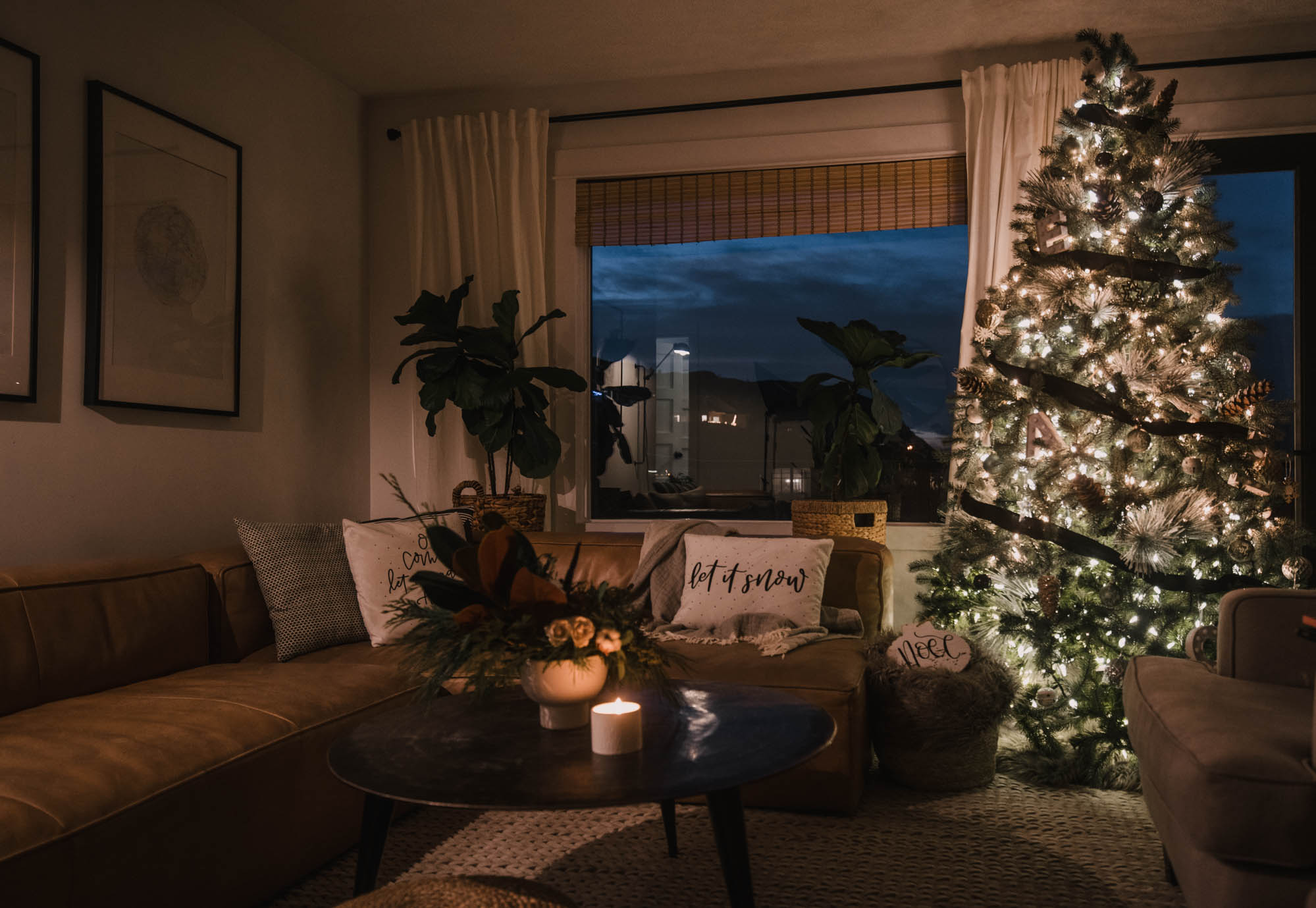 Holiday Home Tour at night