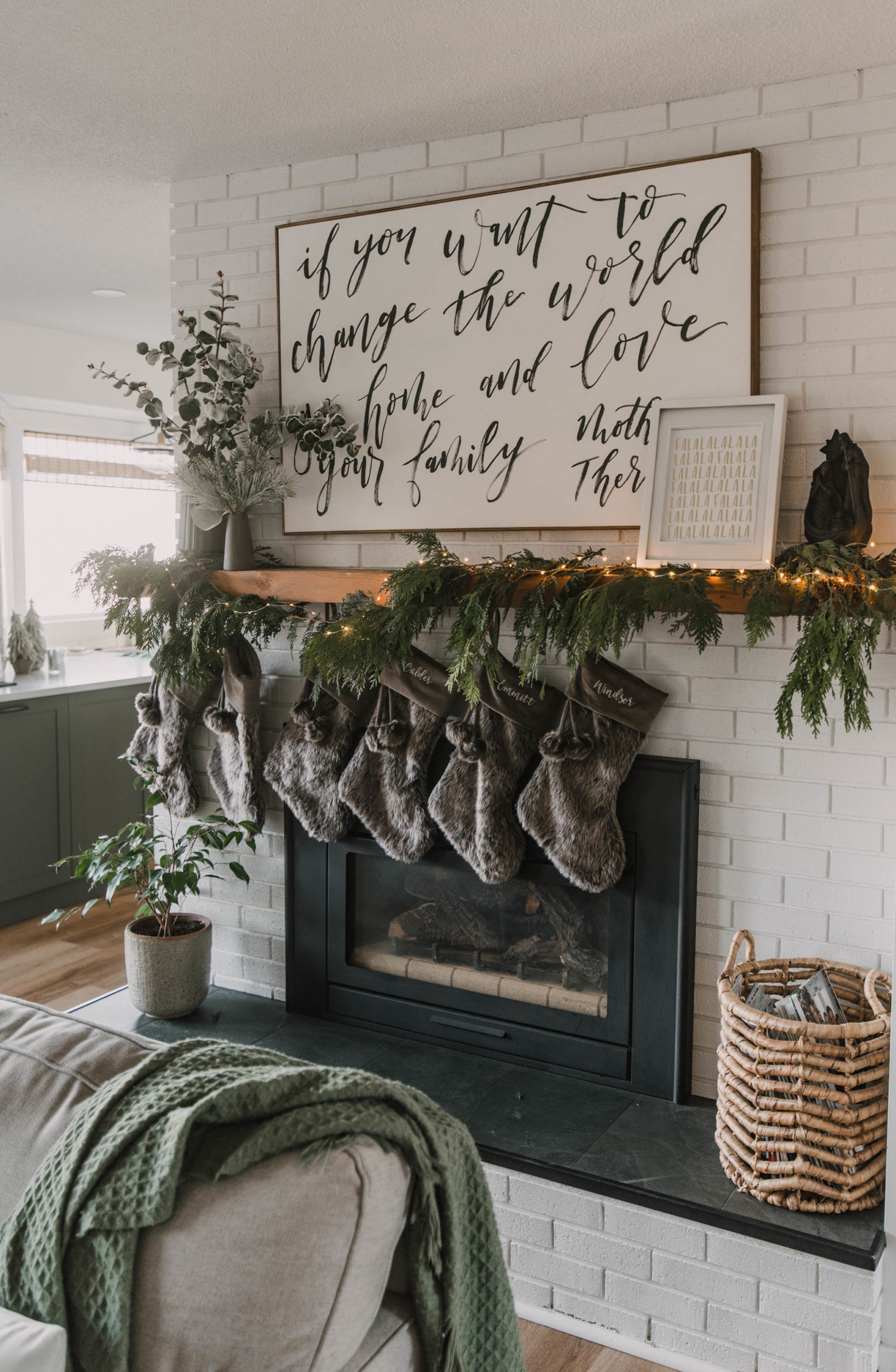 Cozy Christmas Mantel Decor