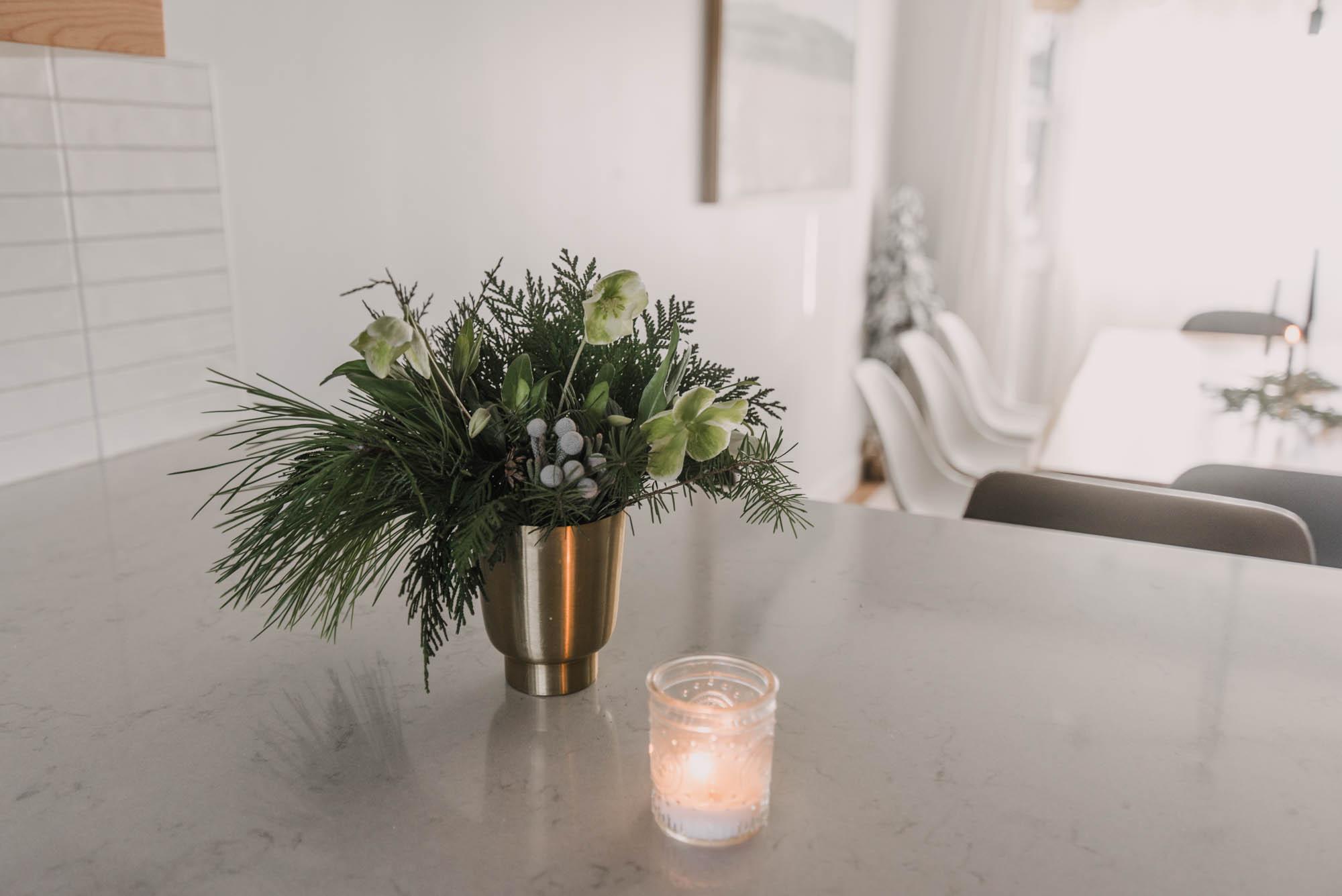 Modern floral arrangements for Christmas